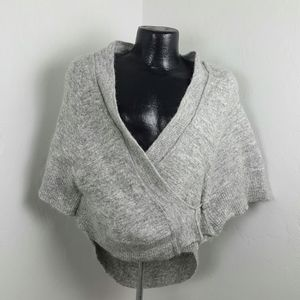 Knitted&Knotted gray cardigan sweater size XS